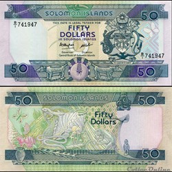 ILES SALOMON - PICK 17 a - 50 DOLLARS - ...