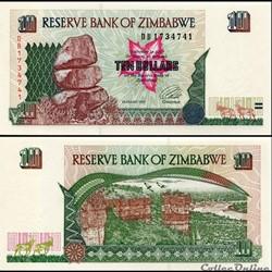 ZIMBABWE - PICK 006a - 10 Dollars - 1997