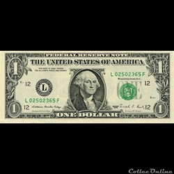 L- 1$ Federal Reserve Notes - Small Size...