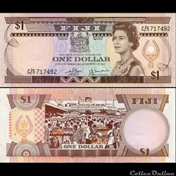 FIDJI - PICK 076 a - 1 DOLLAR - 1980