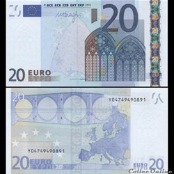 20 EUROS - SIGNATURE DRAGHI - PICK 16 Y ...
