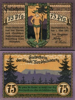 Nordhausen - 75 Pfennig