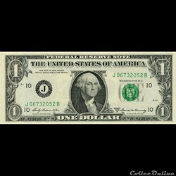 J- 1$ Federal Reserve Notes - Small Size...