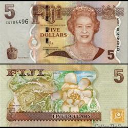 FIDJI - PICK 111 b - 5 DOLLARS - 2007