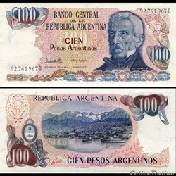 ARGENTINE - PICK 315 a 2 - 100 PESOS ARGENTINOS 1984