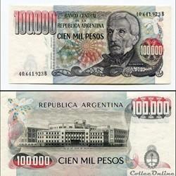 ARGENTINE - PICK 308 b - 100 000 PESOS -...