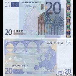 20 EUROS - SIGNATURE DRAGHI - PICK 16 E ...
