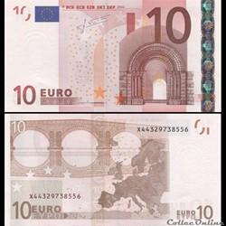 10 EUROS - SIGNATURE TRICHET - PICK 9 X ...