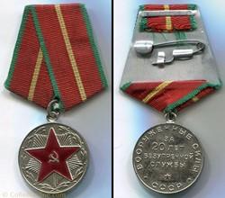 Médaille pour Service Impeccable  -20 an...