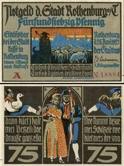Rothenburg ob der Tauber 75 Pfennig 2a 1...