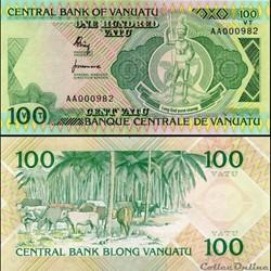 VANUATU - PICK 1 a - 100 VATU - 1982