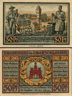 Kreuzburg in Oberschlesien - 50 Pfennig