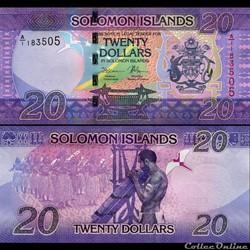 ILES SALOMON - PICK 34 - 20 DOLLARS - 20...