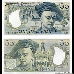 FRANCE - 50 FRANCS - 1990