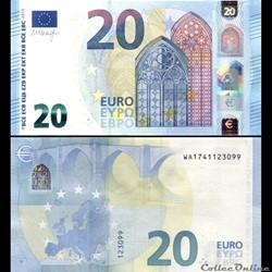 20 EUROS - SIGNATURE DRAGHI - PICK 22 W ...