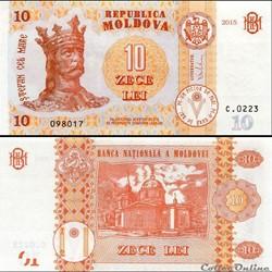 MOLDAVIE - PICK 022a - 10 LEI - 2015