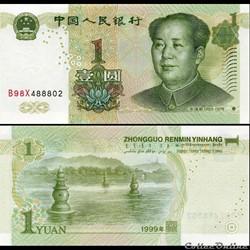 CHINE - PICK 895 c - 1 YUAN 1999
