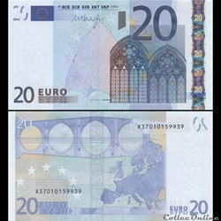 20 EUROS - SIGNATURE DRAGHI - PICK 16 X ...