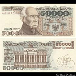POLOGNE - PICK 153 A - 50 000 ZLOTYCH - ...