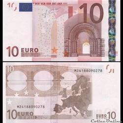 10 EUROS - SIGNATURE TRICHET - PICK 9 M ...