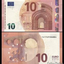 10 EUROS - SIGNATURE DRAGHI - PICK 21 Y ...