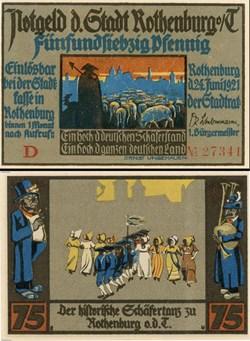 Rothenburg ob der Tauber 75 Pfennig 2a 3...