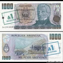 ARGENTINE - PICK 320 - 1 AUSTRAL sur 100...