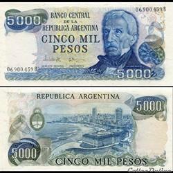 ARGENTINE - PICK 305 b 1 - 5000 PESOS - ...
