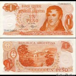 ARGENTINE - PICK 287 a 3 - 1 PESO - 1972