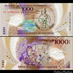 VANUATU - PICK 15 - 1000 VATU - 2014