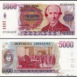 ARGENTINE - PICK 318 a  - 5 000 PESOS - ...