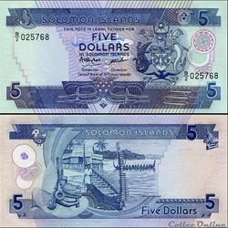 ILES SALOMON - PICK 14 a - 5 DOLLARS - 1...