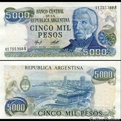 ARGENTINE - PICK 305 a 1 - 5000 PESOS - ...