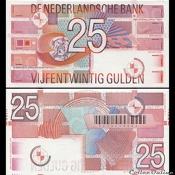 PAYS-BAS - PICK 100 - 25 GULDEN - 1999