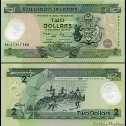 ILES SALOMON - PICK 23 a - 2 DOLLARS - 2...