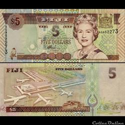 FIDJI - PICK 105 b - 5 DOLLARS - 2002