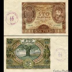 POLOGNE - PICK 74 A - 100 ZLOTYCH - 1932