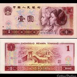 CHINE - PICK 884 a - 1 YUAN 1980