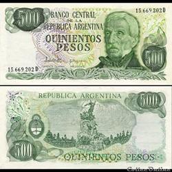 ARGENTINE - PICK 303 C - 500 PESOS - 198...