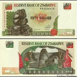 ZIMBABWE - PICK 008a - 50 Dollars - 1997
