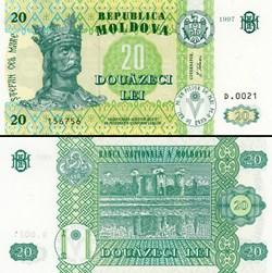 MOLDAVIE - PICK 013 c - 20 LEI - 1997