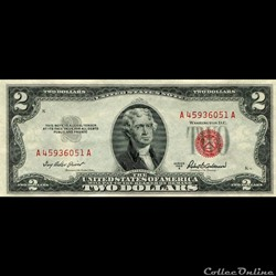 $2 - RED SEAL CERTIFICATE SERIES 1953A
