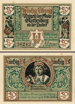 Rothenburg ob der Tauber 50 Pfennig 2b 6...