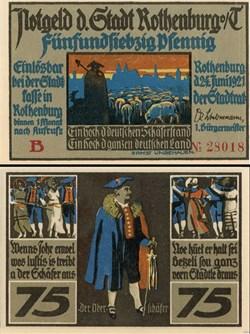 Rothenburg ob der Tauber 75 Pfennig 2a 2...