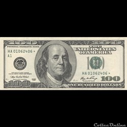 100$ Federal Reserve Notes - Small Size 2006 Series