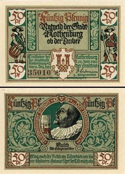 Rothenburg ob der Tauber 50 Pfennig 2b 5...