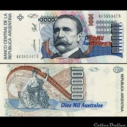 ARGENTINE - PICK 334 a - 10 000 AUSTRALE...