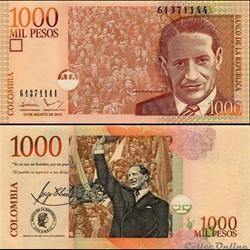 COLOMBIE - PICK 456 t - 1 000 PESOS  COL...