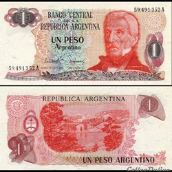 ARGENTINE - PICK 311 a 1 - 1 PESO ARGENT...