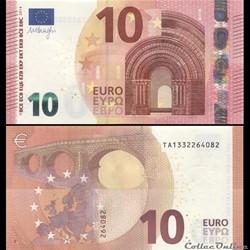 10 EUROS - SIGNATURE DRAGHI - PICK 21 T ...